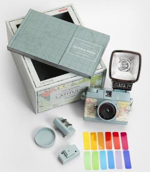 Lomography Mini Map Diana Camera & Flash