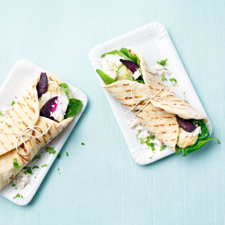 Vegetarische pita's met yoghurt-komkommersaus van ZTRDG