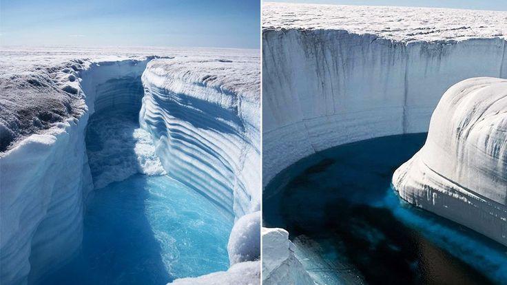 Ice Canyon Wallpaper