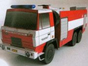 Tatra T815 CAS 32 6x6 Fire Engine Free Vehicle Paper Model Download