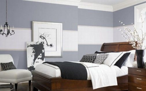 Contrast two tone colors painting walls ideas but in red Red bedroom wall painting ideas