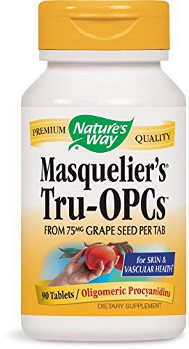 """Nature's Way Tru-OPCs is an antioxidant made from grape seeds that can ben taken for skin and cascular support.       Famous Words of Inspiration...""""Definition of a Statistician: A man who believes figures don't lie, but admits than under analysis some of them won't... more details at http://supplements.occupationalhealthandsafetyprofessionals.com/herbal-supplements/grape-seed-extract/product-review-for-natures-way-tru-opcs-75mg-90-tablets/"""