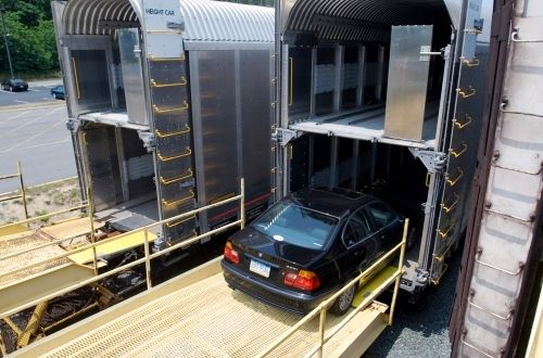 This slideshow includes Amtrak Auto Train photos and tips for traveling on this unique train which transports passengers and their vehicles between Virginia and Florida.: Loading Vehicles onto the Amtrak Auto Train