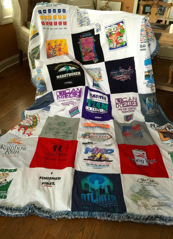 What to do with those t-shirts that are in your drawers??? Let me turn them into a fabulous keepsake!!! It is one of those things that you