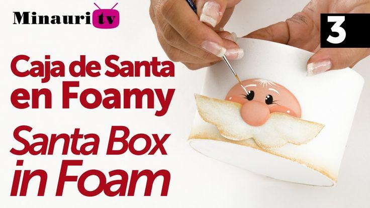 Navidad Caja Santa - ( Christmas Santa Box ) Foamy Foam 3/3
