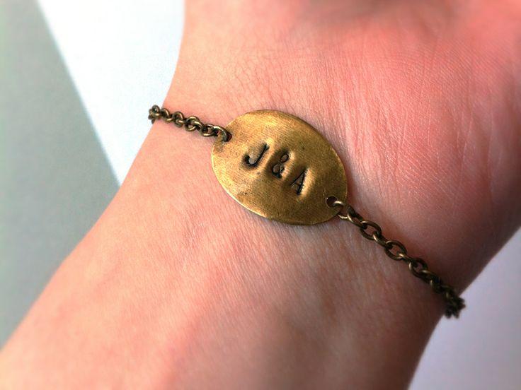 Armband mit Namen oder Initialien personalisiert von Anders auf DaWanda.com