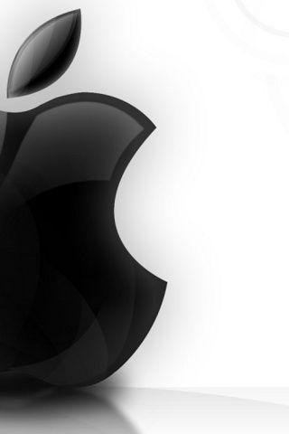Black Apple Logo iPhone Wallpaper