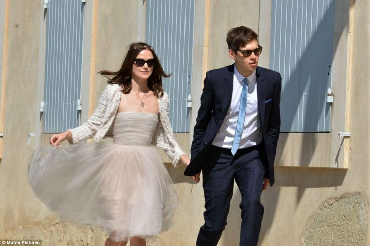 Mr and Mrs: Keira Knightley and James Righton looked picture perfect as they headed to the Mazan Town Hall, in France, where they married on Saturday