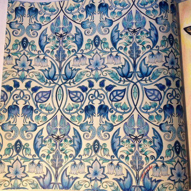 Blue Vines Enchanted Forest Johanna Basford Cathyc