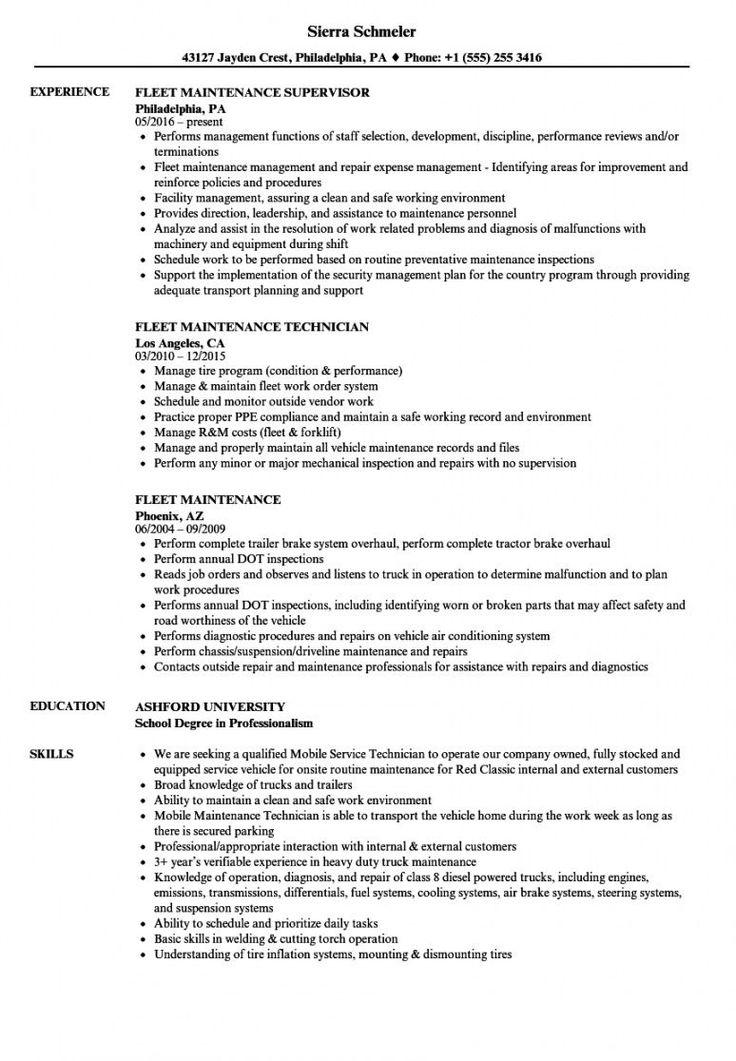 Fleet management proposal template in 2020 resume