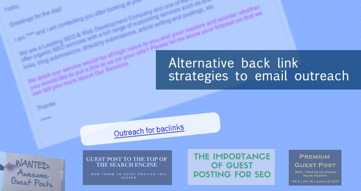 It is time to look for alternative back link strategies given just how ubiquitous email outreach and guest blog postings have become.