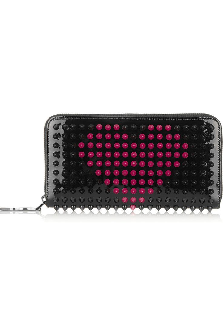 Christian Louboutin // Panettone Spiked Patent-Leather Wallet