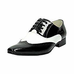 1920er Jahre Herrenmode, Herren Lack Halb-Schuhe im Vintage Design