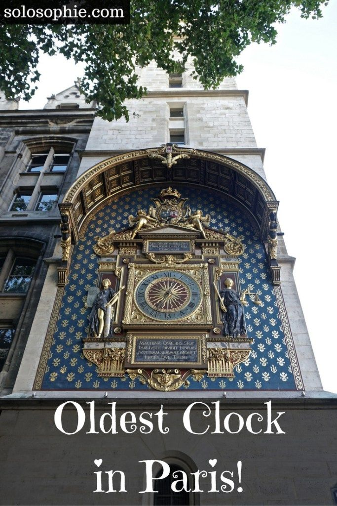 oldest public clock in paris conciergerie