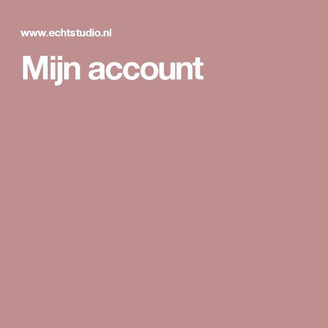 Mijn account