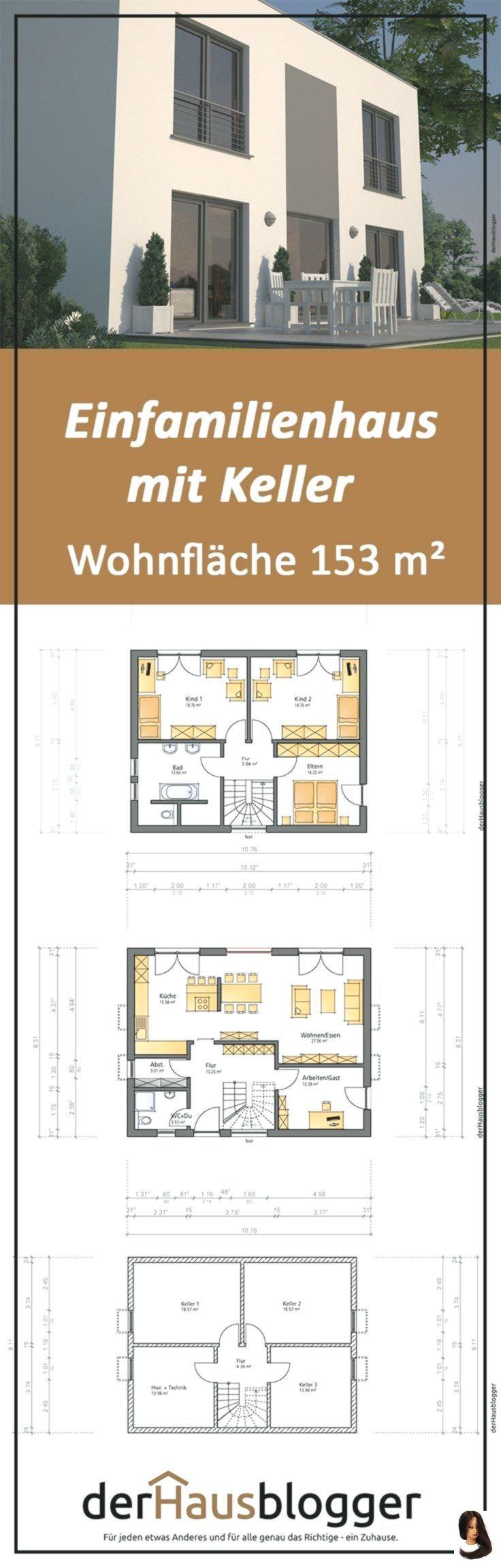 Für den Bau dieses gut 153 m² großen Einfamilienhauses im Bauhausstil hat ei …