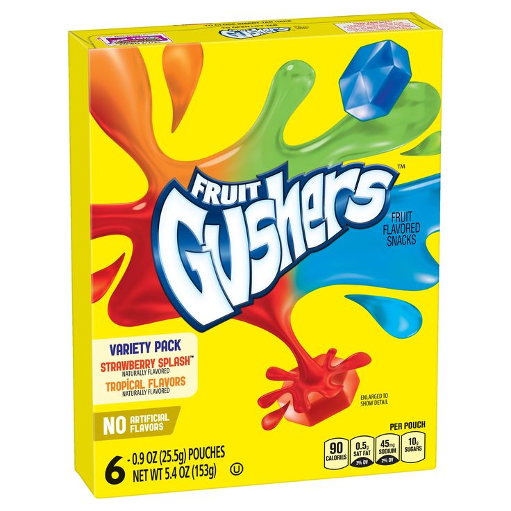 Betty Crocker Fruit Gushers Variety Pack Fruit Flavored Snacks - 6ct