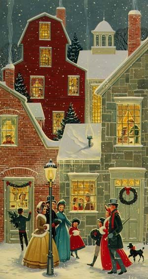 """""""One of my favorite winter/christmas scenes of all time"""" -- yeah, I can see that. Makes me want a nice cup of hot cocoa..."""