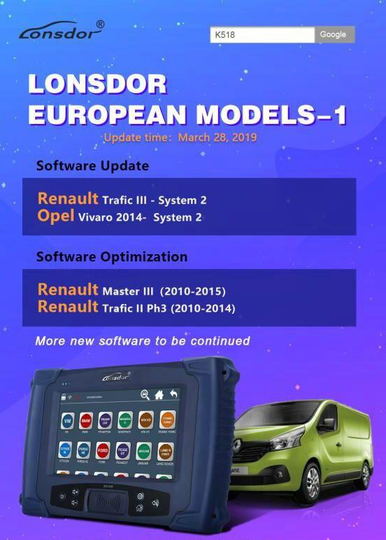 Lonsdor K518ISE key programmer new upgrade adds European immobilizer
