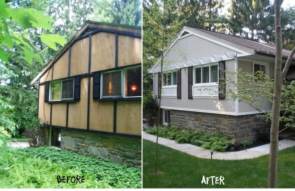 Mobile home remodels before and after more before for Home exterior makeover ideas