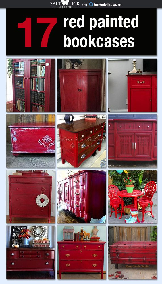 17 Red Hot Painted Furniture Ideas Idea Box By Shannon In 2019 Redo