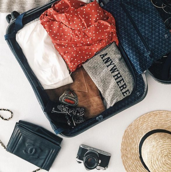 How To Successfully Take An Instagram Flat Lay  #refinery29  http://www.refinery29.com/instagram-clothing-flat-lay-guide#slide-12  Snap When You PackPacking is the perfect opportunity to take a good pre-trip photo, since your stuff is already folded perfectly into your suitcase. Add a few accessories around the exterior, and you've got a bon voyage post that's ready to go....