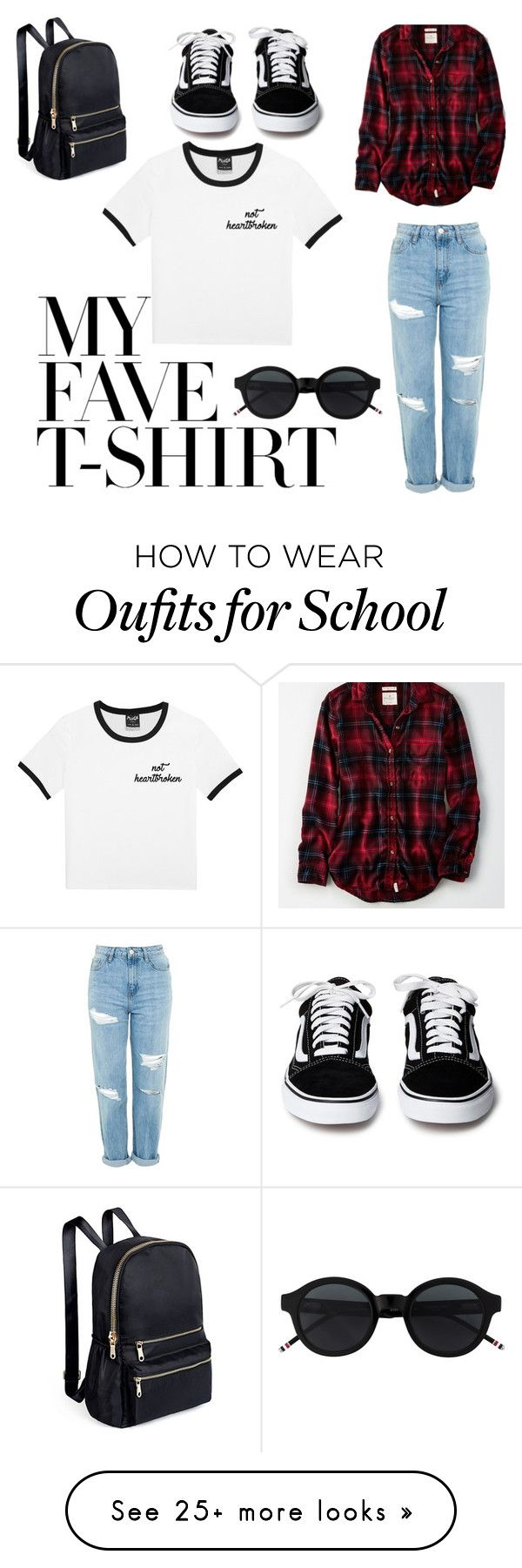 """""""My fav t-shirt"""" by beabooz on Polyvore featuring Topshop, American Eagle Outfitters and MyFaveTshirt"""