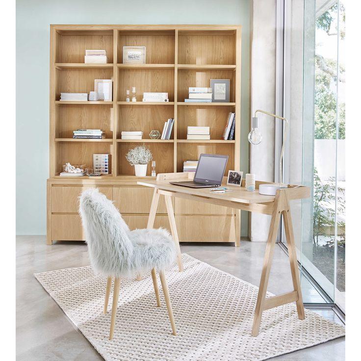 Teppich aus Wolle und Baumwolle ecrufarben 140x200cm | Maisons du Monde