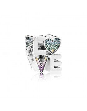 a4b9f52c5 797189NRPMX Pandora Multicolor de Amor Charm, Plata de ley con varios  colores CZ