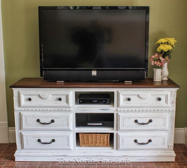television console makeover before after how to paint. Black Bedroom Furniture Sets. Home Design Ideas