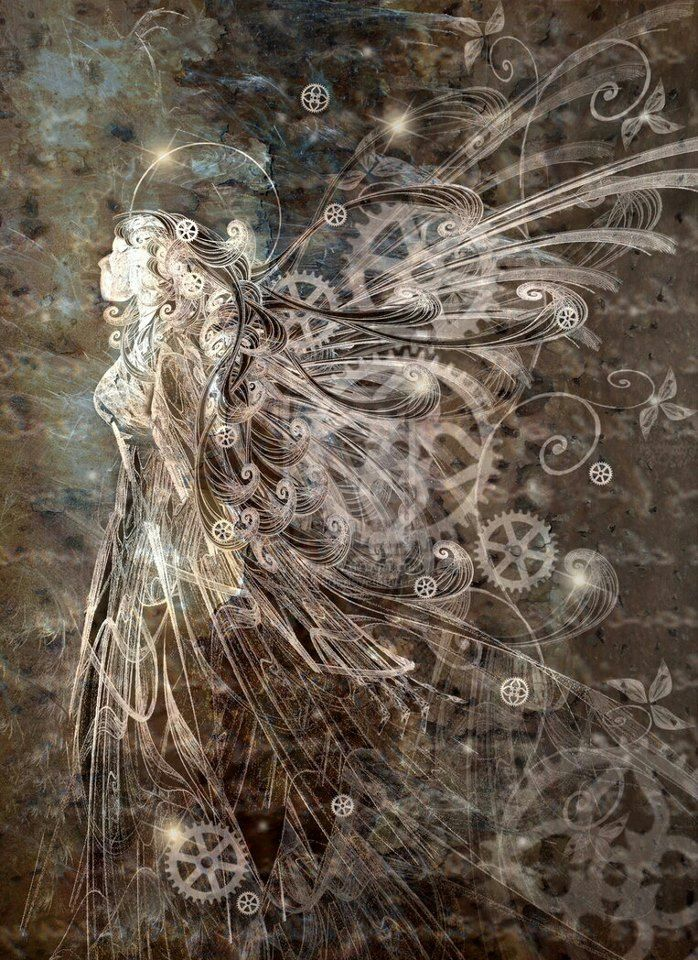 Mechanical Angel #Steampunk a whisper of light and dark