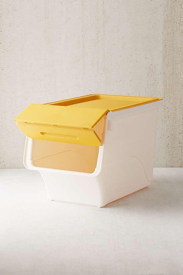 Slide View: 4: Stackable Storage Box Set