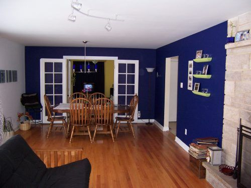 Navy Blue Wall Painting for Home Interiors