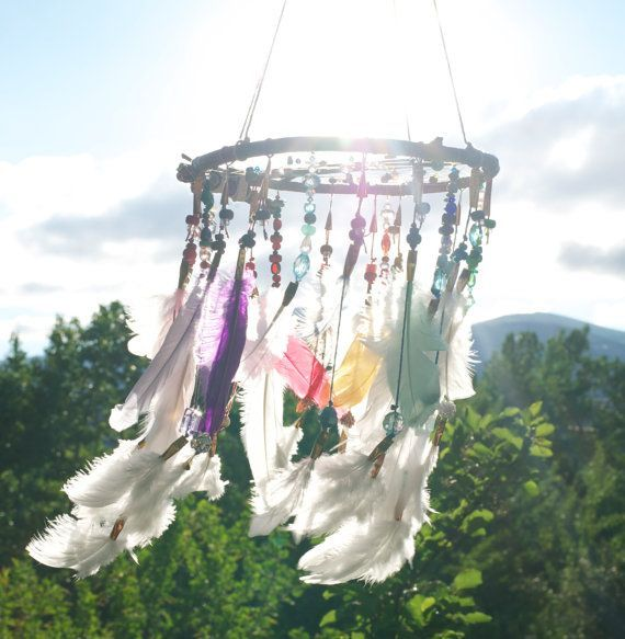 | Rainbow Dreamcatcher Mobile | above bed though...