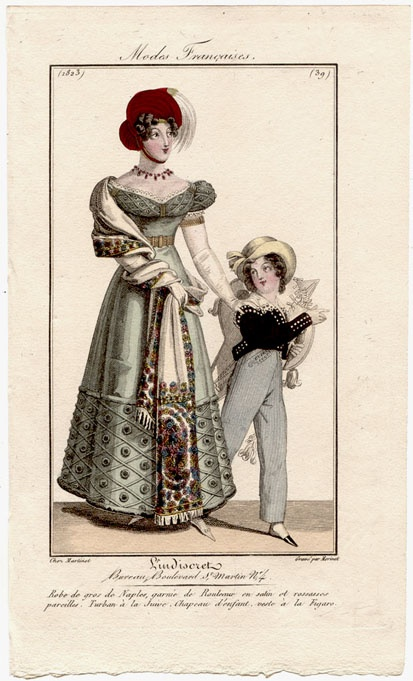 Lady and boy 1823
