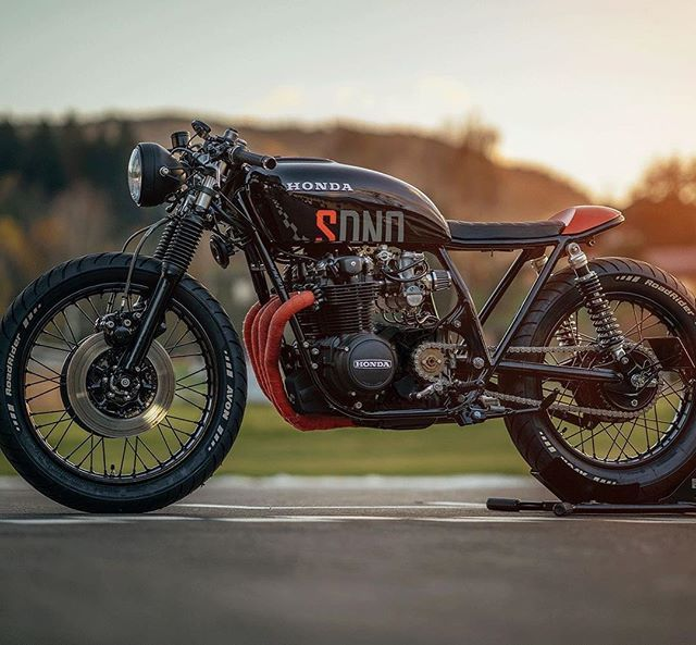 honda #caferacer simple and clean with a little flair