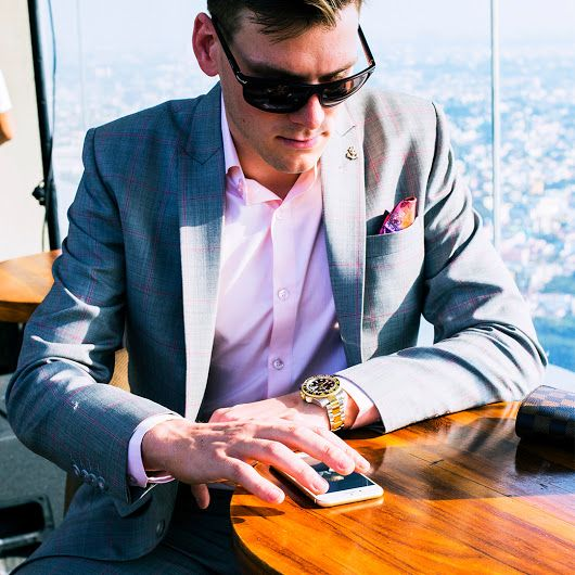 "PIETER PETROS || MIAMI I || ""Checking & replying to low-priority mails while on the go is an efficient way to manage your time.""-PP #Miami1 #ThursdayThought #PPsuits"