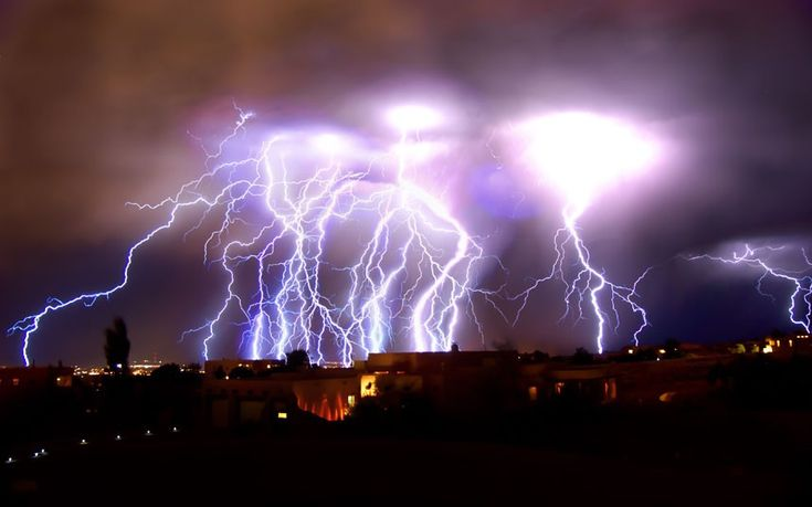 spectacular lightning storm in albuquerque. credit: roch hart