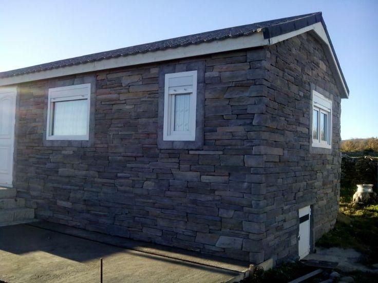 Revestimiento casa prefabricada con richat graphite en esta ocasi n podemos ver como utilizando - Revestir pared exterior ...