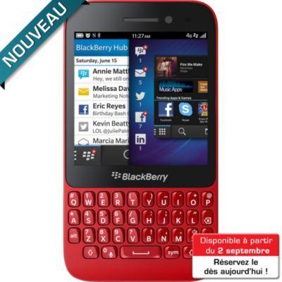 Téléphone portable sans abonnement BLACKBERRY Q5 Rouge