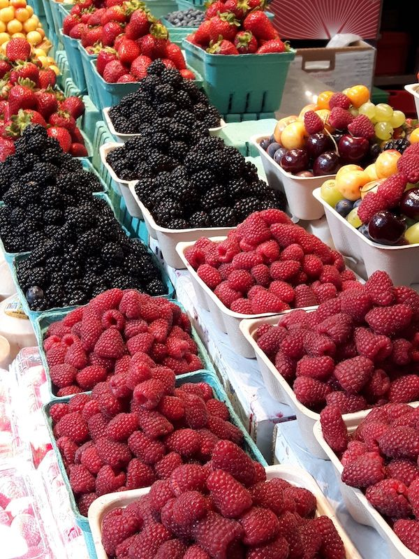 Nothing better than fresh summer fruit and berries.