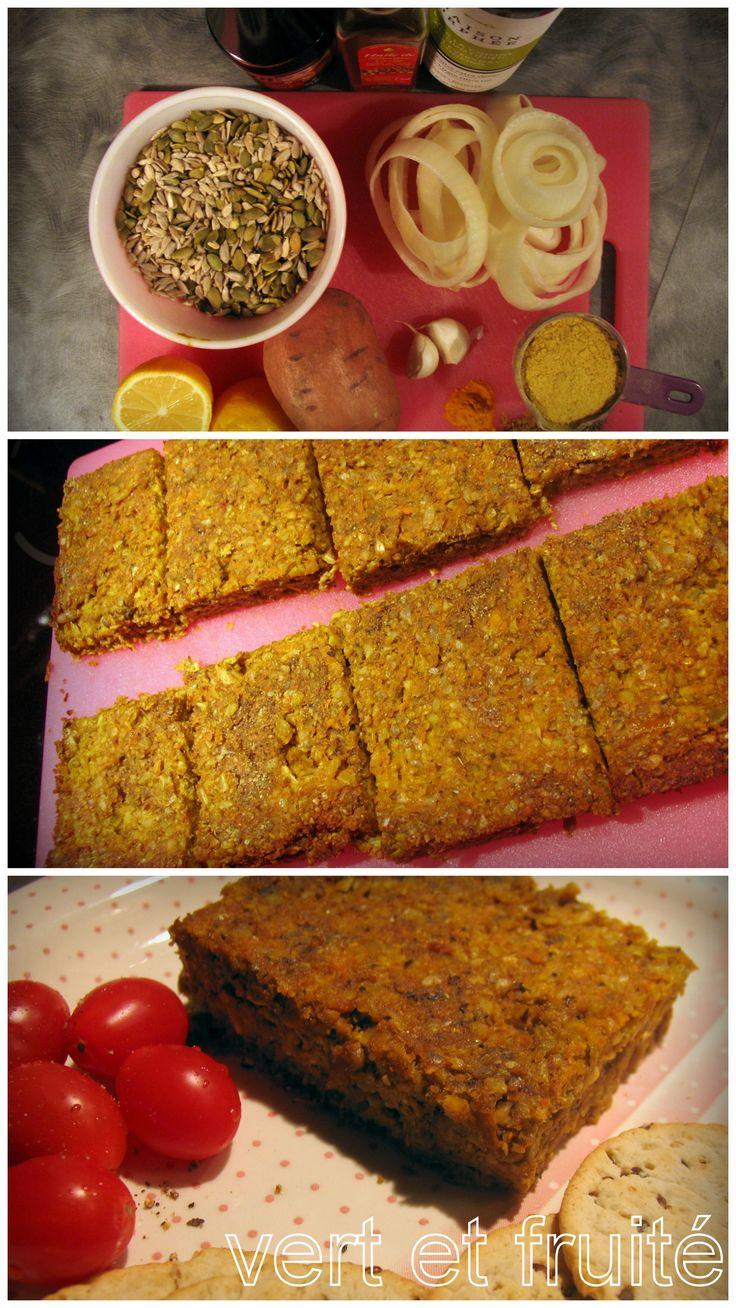 Végé-pâté aux graines de tournesol et de citrouille #sansgluten #vegan http://vertetfruite.com/vege-pate-aux-graines/