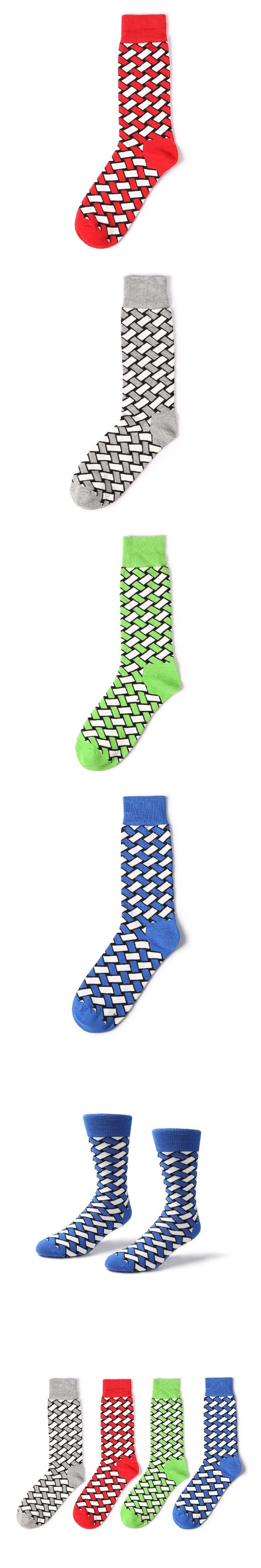 Autumn Winter Fashion Tide Sock Men's British Socks Color Male Plaid Stockings Business Socks Men High Quality Calcetas Hombre