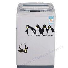 Livraison gratuite! drôle pingouin cuisine réfrigérateur autocollant réfrigérateur stickers salle à manger cuisine décoratif stickers muraux décor à la maison(China (Mainland))