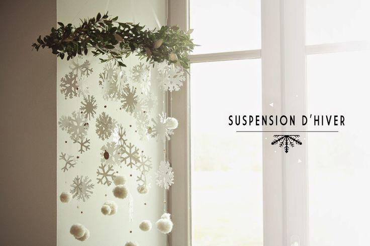 Aux petites merveilles: DIY :: MA SUSPENSION QUI SENT BON L'HIVER
