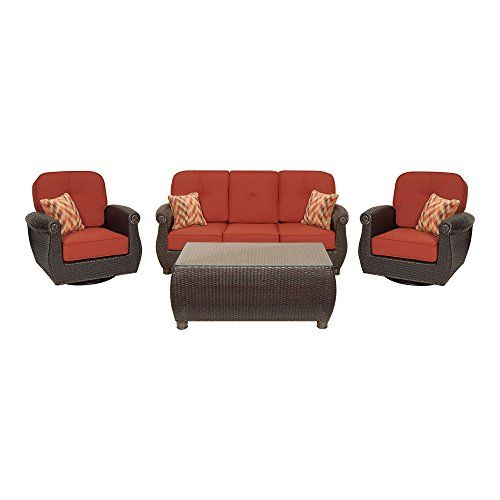 Breckenridge 4 Piece Patio Furniture Set Two Swivel