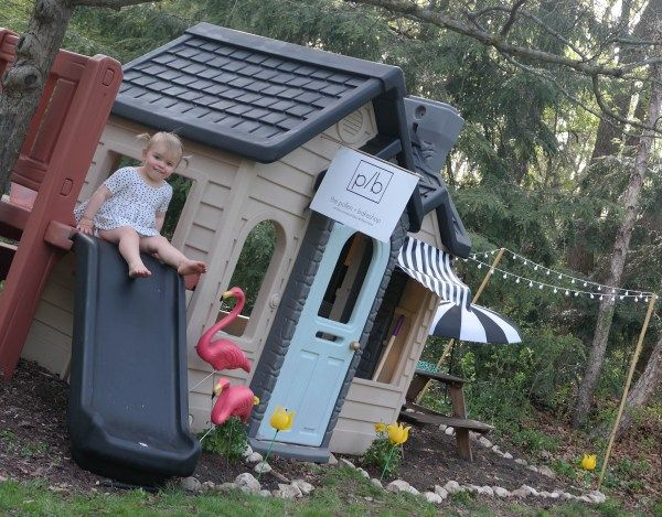 The Pollen + Bakeshop: A Little Tykes Playhouse Makeover