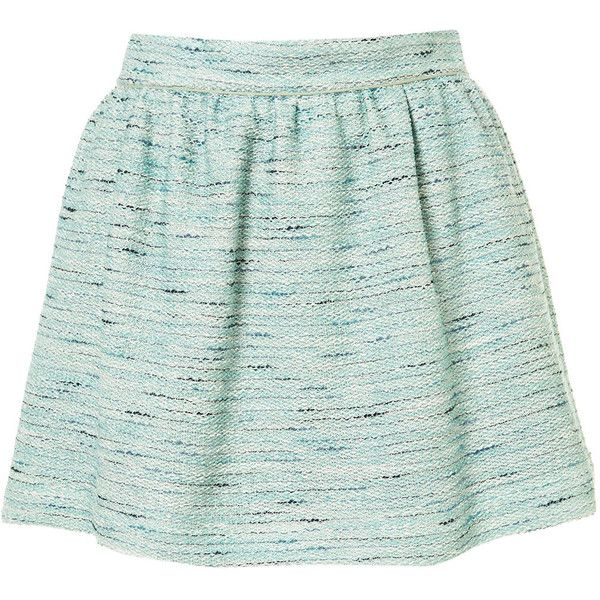 Co-ord Mint Boucle Skirt ($76) ❤ liked on Polyvore featuring skirts, mini skirts, bottoms, saias, faldas, mint, mint skirt, mint mini skirt, green skirt and mint green skirt