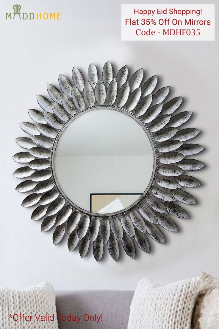 Best Price Ever! Enjoy Flat 35% Discount on Decorative Mirrors. Free Home Delivery, Hassle Free Shopping.   Offer valid only today.