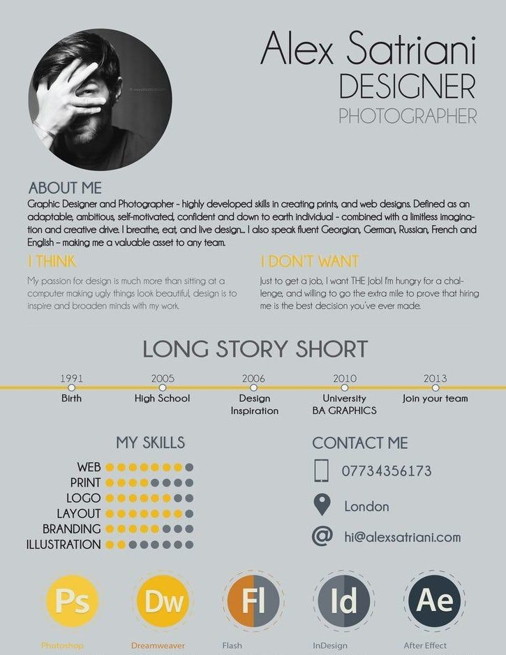 Image result for graphic design resume graphic design